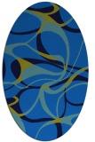 rug #771485 | oval blue retro rug