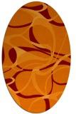 rug #771505 | oval red-orange rug