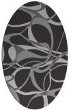 rug #771517 | oval red-orange retro rug