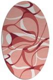 rug #771537 | oval white retro rug