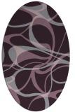rug #771553   oval purple retro rug