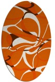 rug #771588 | oval retro rug