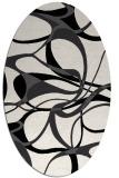 rug #771589   oval white rug