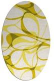 rug #771593 | oval white retro rug
