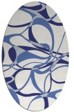 rug #771597   oval white rug