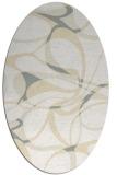 rug #771601   oval white retro rug