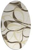 rug #771612 | oval retro rug
