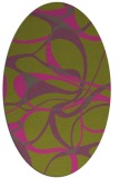rug #771645 | oval light-green rug