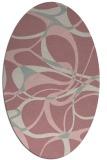 rug #771657 | oval pink retro rug
