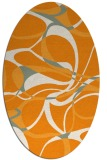 rug #771661   oval light-orange retro rug