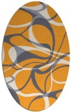 rug #771665 | oval light-orange retro rug