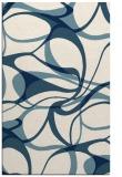 rug #771693 |  blue-green retro rug