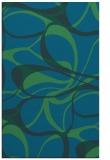 rug #771749    blue retro rug
