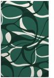 rug #771801 |  blue-green retro rug