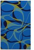 rug #771837    blue retro rug
