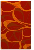 rug #771913    orange retro rug