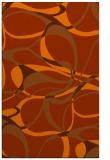 rug #771925 |  red-orange retro rug