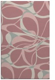rug #772009 |  pink retro rug