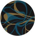 rug #772041 | round brown retro rug