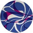 rug #772125   round blue-violet retro rug