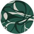 rug #772153 | round blue-green retro rug
