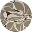 rug #772161 | round mid-brown rug