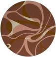 rug #772165   round brown retro rug