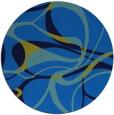 rug #772189 | round blue retro rug