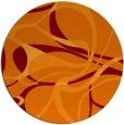 rug #772209 | round orange rug