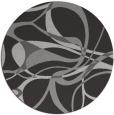rug #772221 | round orange retro rug