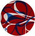 rug #772261 | round red retro rug