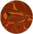 rug #772277 | round red-orange retro rug