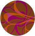 rug #772285 | round red-orange retro rug