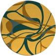 rug #772325 | round yellow retro rug