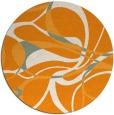 rug #772365 | round light-orange retro rug