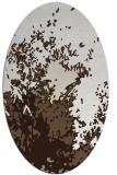 rug #773077 | oval beige abstract rug