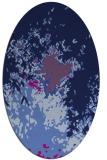 rug #773105 | oval blue abstract rug