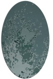 rug #773149   oval blue-green abstract rug