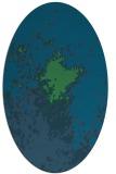 rug #773157 | oval blue abstract rug