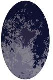rug #773161 | oval blue-violet graphic rug