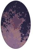 rug #773173 | oval purple graphic rug