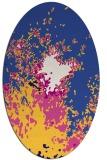 rug #773181 | oval blue-violet graphic rug