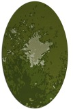 rug #773201   oval green abstract rug
