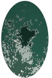 rug #773209 | oval blue-green abstract rug