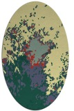 rug #773281 | oval yellow graphic rug