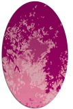 rug #773285 | oval pink abstract rug