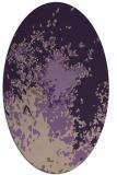 rug #773309 | oval purple graphic rug
