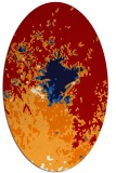 rug #773317 | oval red graphic rug
