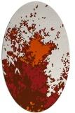 rug #773345 | oval red-orange graphic rug