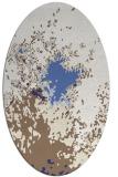 rug #773357 | oval white abstract rug